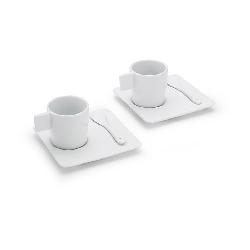 espressotassen set cafe flore wei werbeartikel werbegeschenk werbemittel mit bedruckung. Black Bedroom Furniture Sets. Home Design Ideas